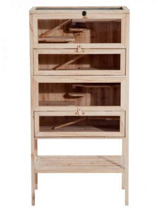 Dřevěná klec pro hlodavce 60x40x120 cm