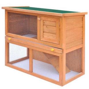 Dřevěný dvoupatrový domek pro hlodavce