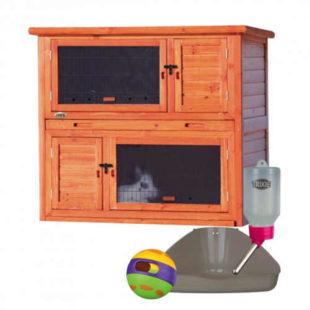 Dřevěný komfortní příbytek s příslušenstvím